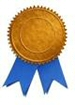 clipart:  blue ribbon